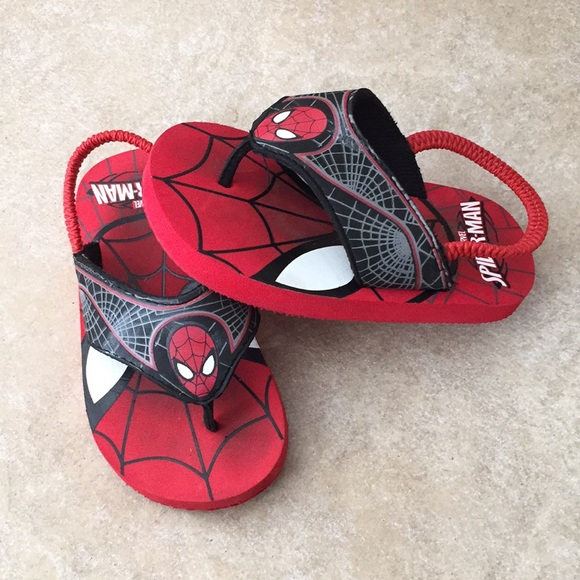 Marvel Spider-Man Fleece House Shoes Slippers Boys Kids Toddler Size 7//8 M  NWT